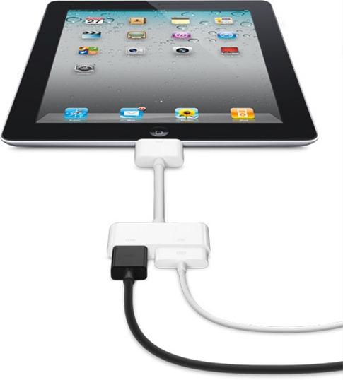 iPad2をHDMI経由で大画面TVに出力できるDigital AV Adapter