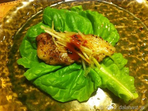 美味しいサムギョプサル!(水耕栽培サラダ菜)