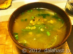 春キャベツと納豆の味噌汁