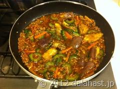 ゴーヤ麻婆素麺10