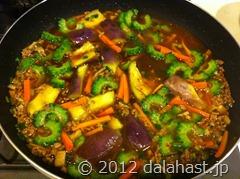 ゴーヤ麻婆素麺9