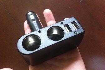 上海問屋のシガーソケット用 USB2ポート充電器は安くて便利
