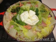 白菜鍋のバリエーション 白菜とカマンベールチーズの鍋