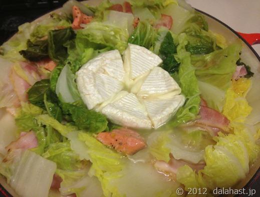 白菜とカマンベールチーズの鍋5