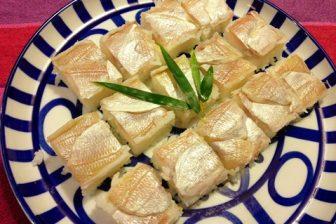 田中平助商店の小鯛の笹漬けで押し寿司をつくる