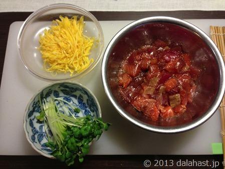 海鮮巻き寿司材料