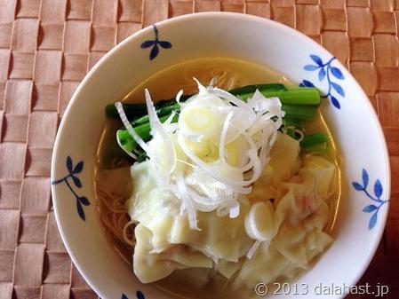 香港の蝦子麺で鮮蝦雲呑麺をつくる