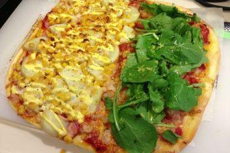 【レシピ】生地から作る手作りピザ エビ&じゃがマヨベーコーンのハーフ&ハーフピザをつくってみた