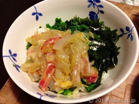 卵黄のタレと甘いタレが美味い、宇和島の鯛めし再び