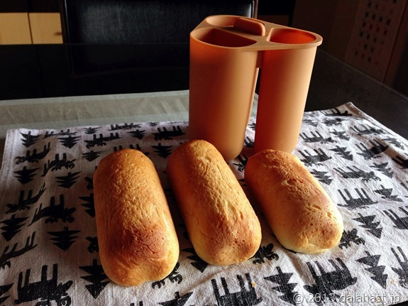 HBでホットドック型パン