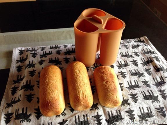 HBでホットドック型パンをつくる