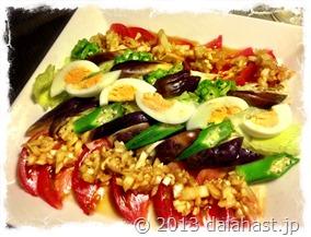 タマネギソースのサラダ