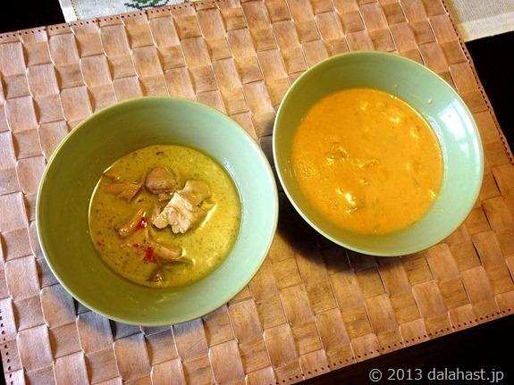 タイカレーとマンゴカレー