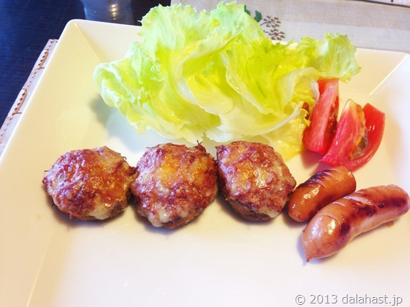 椎茸のコンビーフマヨ詰め焼き2