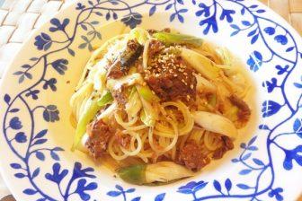 時短レシピ 秋刀魚の蒲焼でつくる和風パスタ