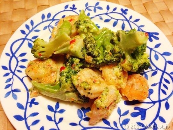 海老とブロッコリーのスィートチリマヨネーズソース炒め