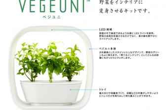 家庭で手軽に無農薬で水耕栽培できる VEGEUNI ベジユニ