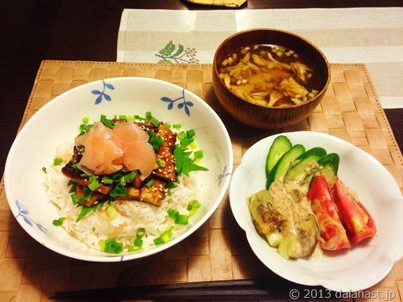 秋のおススメレシピ 秋刀魚の蒲焼丼とサツマイモのリゾット