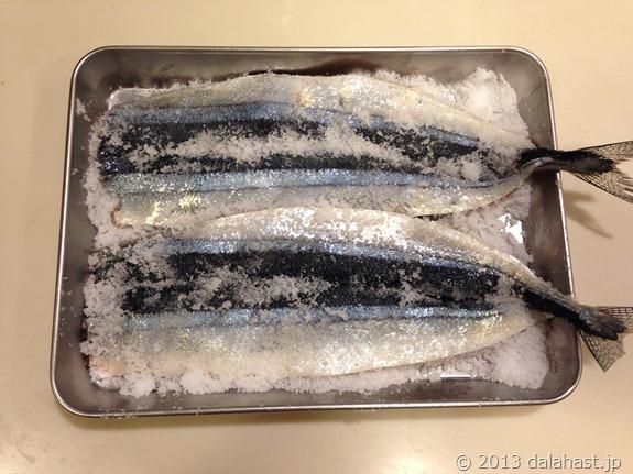 秋刀魚塩〆