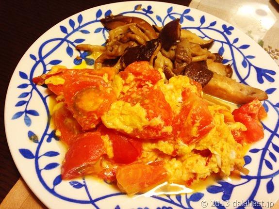 ふわとろトマトと卵の中華炒め