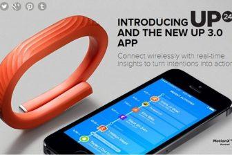Bluetoothに対応したライフログリストバンド新型Jawbone UP24