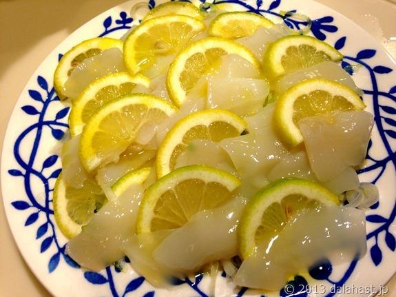 イカのレモン塩カルパッチョ2