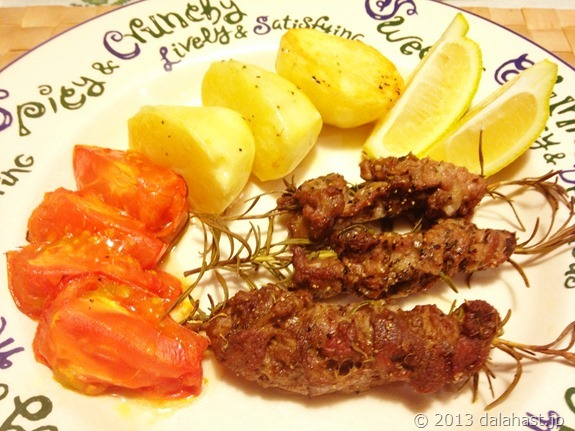 ラム肉のオーブン焼きローズマリー風味