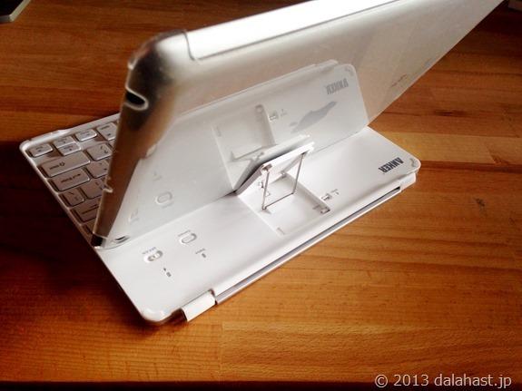 AnkerのiPad用キーボード裏側