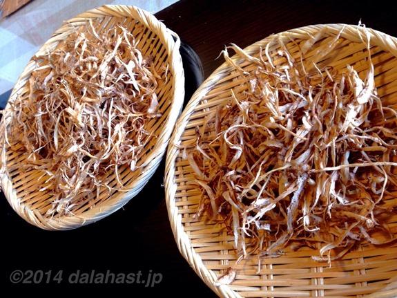 ごぼう茶乾燥2