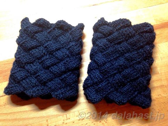 防寒防風に最適な白樺編みのリストウォーマー