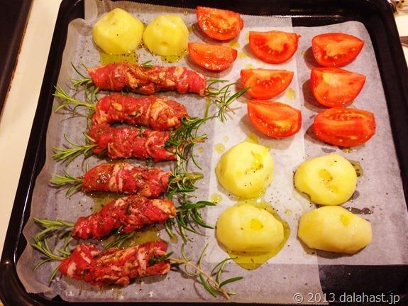 ラム肉のオーブン焼き