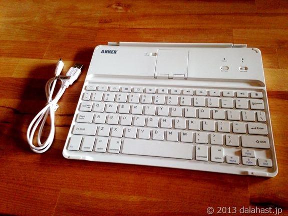 軽量軽快なAnker iPad用Bluetoothキーボードカバー