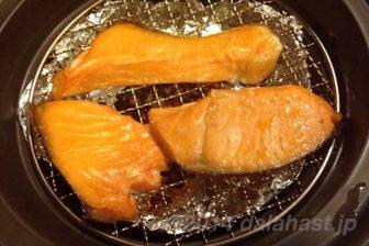 イージースモーカーでつくる塩鮭の燻製