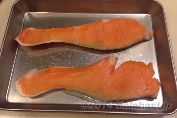 塩鮭の乾燥