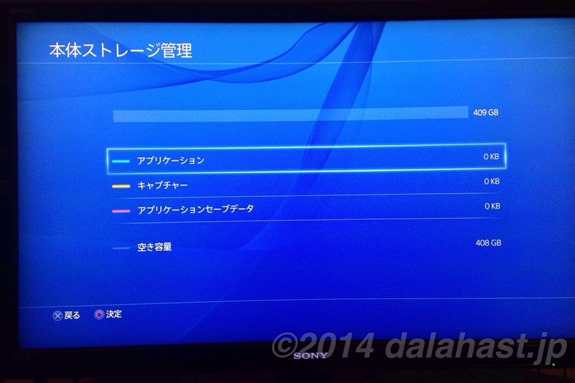 PS4ストレージ容量