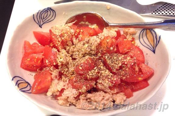 トマトとツナ