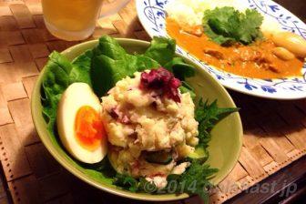 コリコリ食感がたまらない 和風しば漬けのポテトサラダ