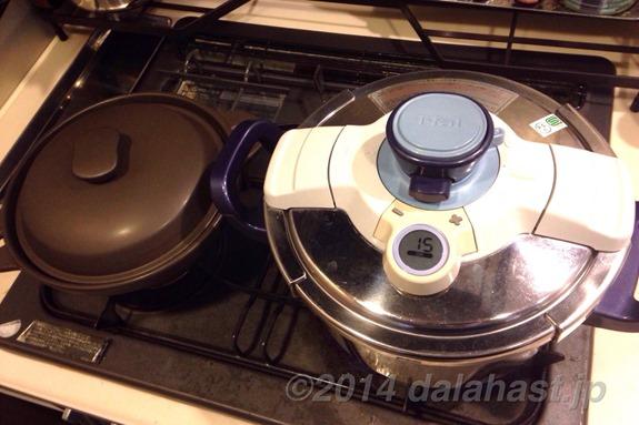 圧力鍋と燻製器
