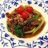 フライパン1つでサットできる 牛肉とキノコのオイスターソース中華炒め