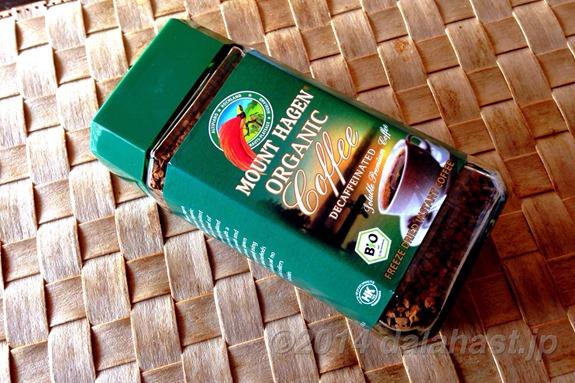平日夜におすすめの有機栽培×カフェインレスなインスタント珈琲 マウントハーゲンオーガニック