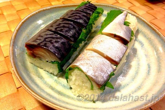 しめ鯖の棒寿司