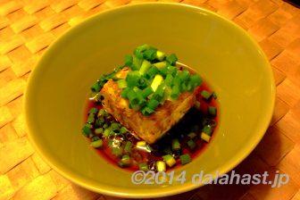 カリッとしたジャコの食感がたまらない ちりめんじゃこの揚げ出し豆腐