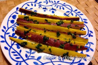 バジルソルトとサツマイモの甘さがあとをひく スイートポテトフライ ガーリックマヨネーズ添え