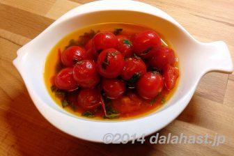 初夏にぴったりな甘酸っぱさ ミニトマトとフレッシュバジルのイタリアンマリネ