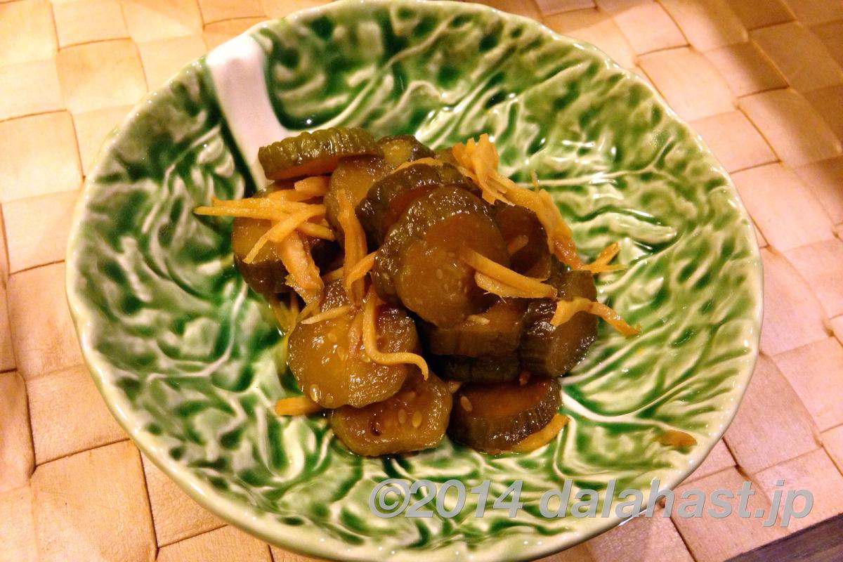 胡瓜の生姜醤油漬け