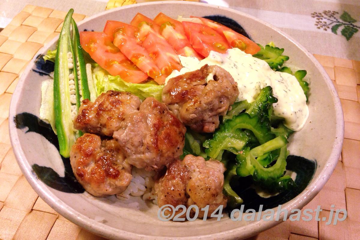 夏丼 カリカリ豚マヨご飯