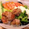 夏丼 バジルマヨネーズが新鮮な、カリカリ豚マヨ丼