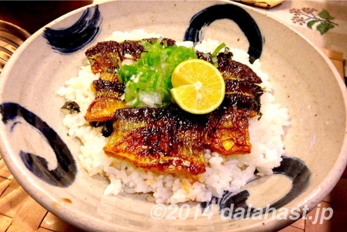 秋刀魚の蒲焼丼2014