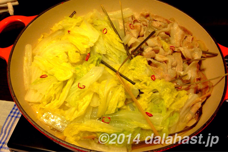 爽やかな香り&あっさり味のレモングラス鍋 白菜と豚バラ肉バージョン