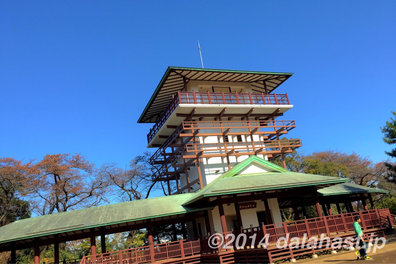 枡形山広場と展望台
